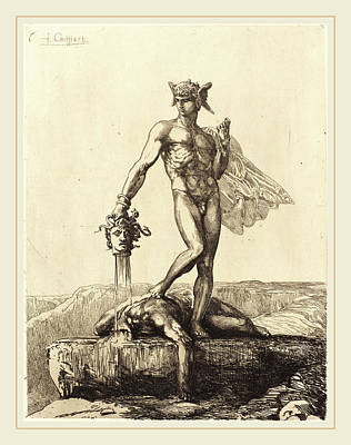 François-nicolas Chifflart, Perseus, French Art Print by Litz Collection