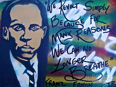 Free Speech Painting - Franz Fanon by Tony B Conscious