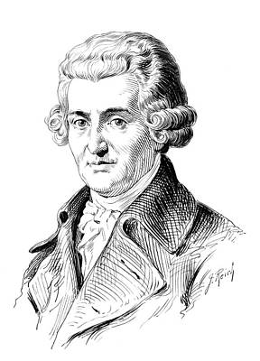 Lapel Painting - Franz Joseph Haydn (1732-1809) by Granger