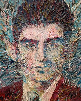 Kafka Painting - Franz Kafka Oil Portrait by Fabrizio Cassetta