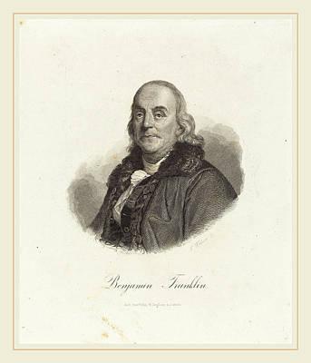 Franz Weber Austrian, 1760-1818, Benjamin Franklin Art Print by Litz Collection