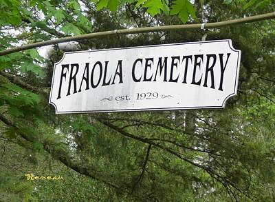 Photograph - Fraola Wa Cemetery Entrance by Sadie Reneau