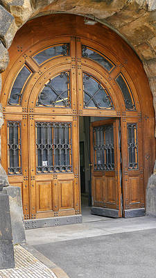 Photograph - Frauenkirche Door by Herb Paynter