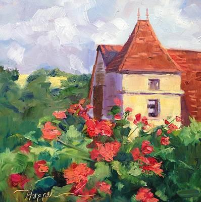 Frayssinet France Village Scene Original by Carol Hopper