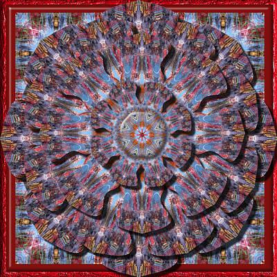 Digital Art - Freaky Flower Kaleidoscope by Charmaine Zoe