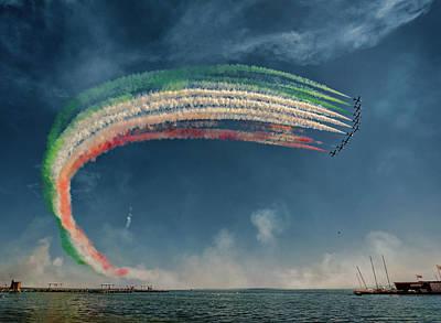 Military Aircraft Wall Art - Photograph - Frecce Tricolori by J. Antonio Pardo
