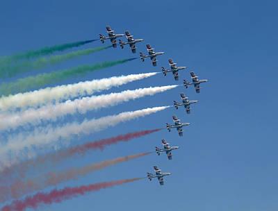 Photograph - Frecce Tricolori by Marc Fontannaz