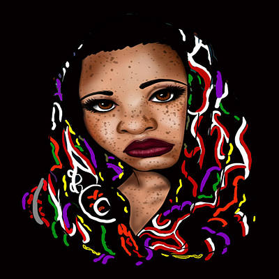 Liberation Digital Art - Freckled Nubian Queen by Respect the Queen