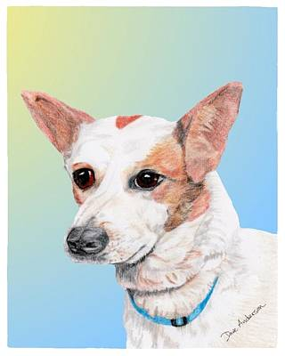Freckles A Former Shelter Dog Art Print by Dave Anderson