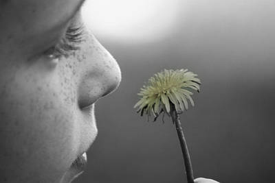 Photograph - Freckles And A Flower by Kelly Hazel