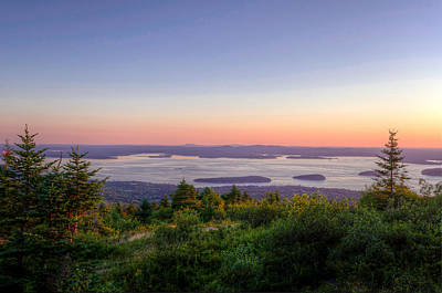 Maine Coast Photograph - Frenchman's Bay From Cadillac Mountain by At Lands End Photography