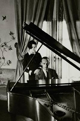 Fred And Adele Astaire At A Piano Art Print by Cecil Beaton
