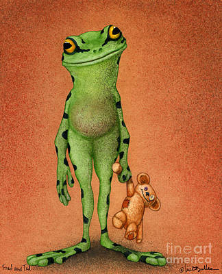 Fred And Ted... Art Print by Will Bullas