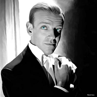 Digital Art - Fred Astaire Portrait by Gabriel T Toro