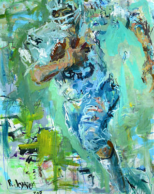 Fred Biletnikoff Art Print by Robert Joyner