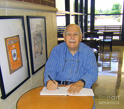 Artist At Work Photograph - Fred Sketching At Starbucks  by Fred Jinkins
