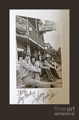 Dry Creek Photograph - Freda And The Firedogs - Autographed Vintage Photo by John Stephens