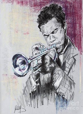 Jazz Drawing - Freddie Hubbard by Melanie D