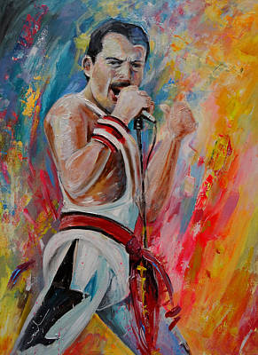Painting - Freddie Mercury 03 by Miki De Goodaboom