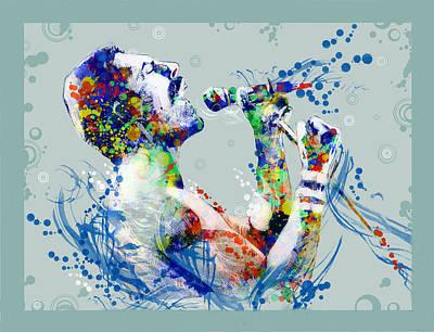 British Rock Band Painting - Freddie Mercury 10 by Bekim Art