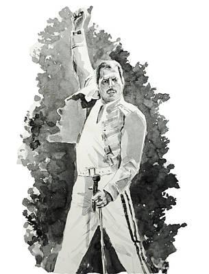 Mercury Painting - Freddie Mercury 2 by Bekim Art
