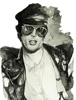 Rock Stars Painting - Freddie Mercury 3 by Bekim Art