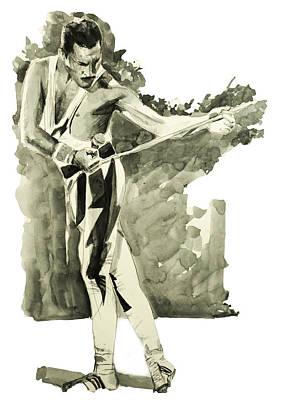 Rock Stars Painting - Freddie Mercury 6 by Bekim Art