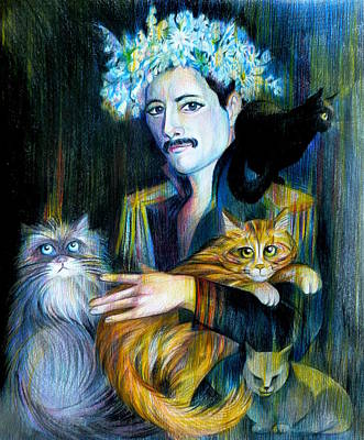 Freddie Mercury Art Print by Anna  Duyunova