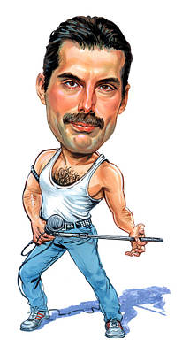 Comics Royalty-Free and Rights-Managed Images - Freddie Mercury by Art