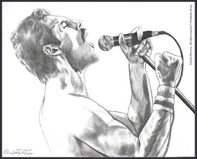 Quadro Drawing - Freddie Mercury by Betta Artusi