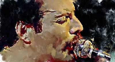 Concert Digital Art - Freddie Mercury Queen 3 by Yury Malkov