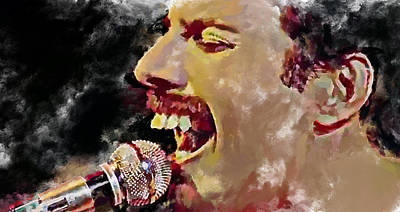 Concert Digital Art - Freddie Mercury Queen 4 by Yury Malkov