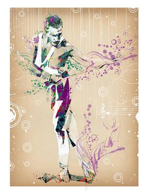 British Rock Band Painting - Freddie Mercury Vintage by Bekim Art