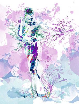 British Rock Band Painting - Freddie Mercury Waterolor Style by Bekim Art