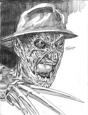 Freddy Art Print by Christopher Torres