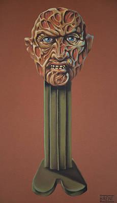 Pastel - Freddy Krueger  by Brent Andrew Doty