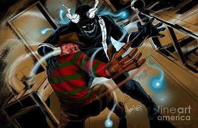 Freddy Vs Jibber Jabber Art Print