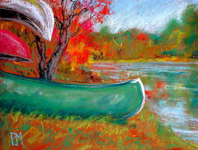 Lakescape Painting - Freddy's Canoe by Pete Maier