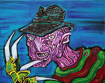 Horror Movies Painting - Freddy's Coming For You by Laura Barbosa