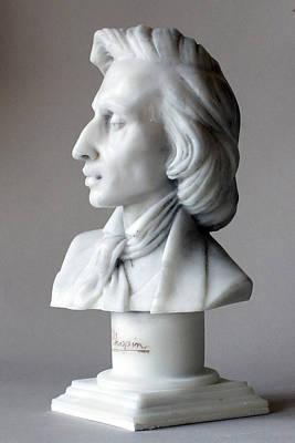 Frederic Chopin Bust Art Print by Andrew Szczepaniec SETTA