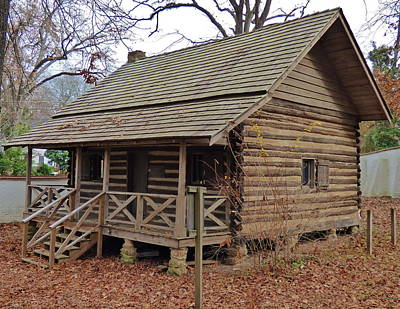 Photograph - Frederick Ergle Log Cabin by Jean Wright