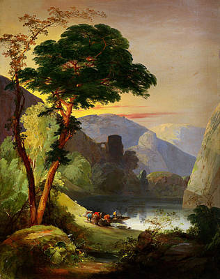 1850s Painting - Frederick Lee Bridell Gebirgssee In Den Italienischen Alpen 1850s by MotionAge Designs