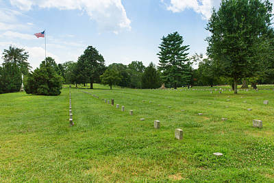 Green Cemetery Road Photograph - Fredericksburg National Cemetery by John M Bailey