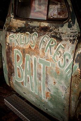 Freds Fresh Bait Print by Paul Bartoszek