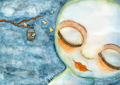 Painting - Free by AnaLisa Rutstein