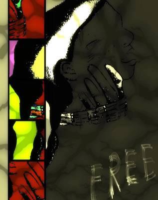 Pow Mixed Media - Free And Idle No More by Ayasha Loya