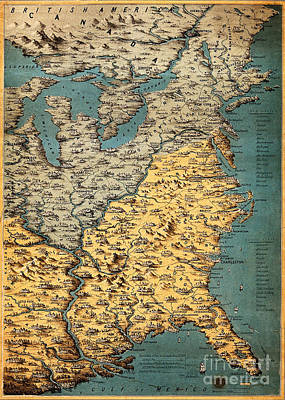 Free And Slave States Of America, C Art Print