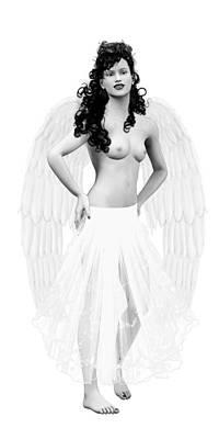 Female Nude. Nude Drawings Digital Art - Free Angelite by Quim Abella