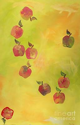 Art Print featuring the painting Free Apples by PainterArtist FIN