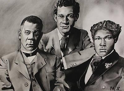 Free At Last... Booker T. Washington And Sons Art Print